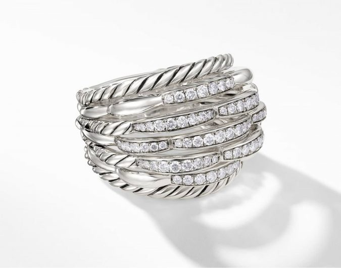 sterling-silver-ring-with-diamonds-2-675x531 60+ Stellar Sterling Silver Rings for Women