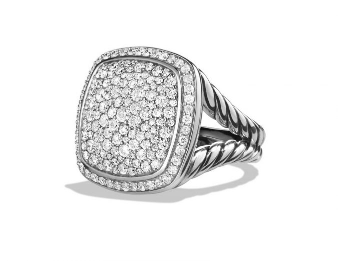 sterling-silver-ring-with-diamonds-675x521 60+ Stellar Sterling Silver Rings for Women