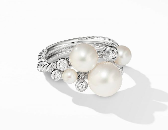 sterling-silver-ring-with-pearls-675x521 60+ Stellar Sterling Silver Rings for Women