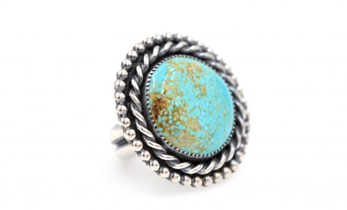 sterling-silver-ring-with-torquoise-stone-675x410 60+ Stellar Sterling Silver Rings for Women