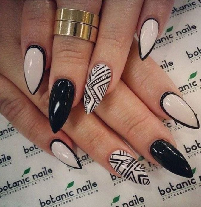 tribal-nail-art-design-2-675x696 60+ Most Fabulous Winter Nail Design Ideas This Year