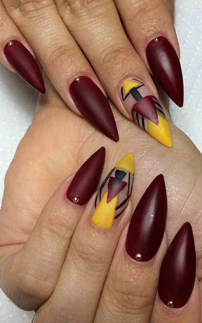 tribal-nail-art-design-675x1080 60+ Most Fabulous Winter Nail Design Ideas This Year