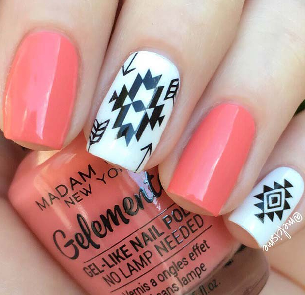 tribal-nail-design-2 60+ Most Fabulous Winter Nail Design Ideas This Year