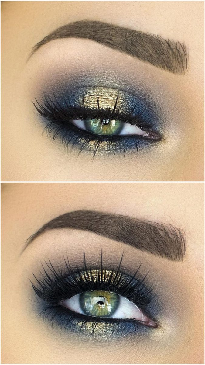 wedding-makeup-blue-eyeshadow-675x1200 Top 10 Wedding Makeup Trends for Brides in 2019