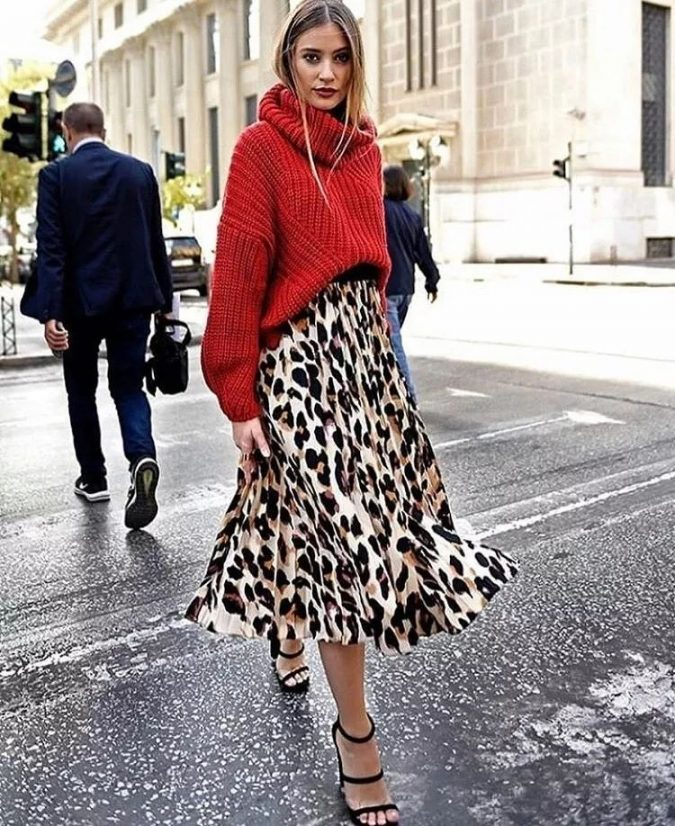 winter-outfit-Turtleneck-with-midi-skirt-2-675x826 70+ Elegant Winter Outfit Ideas for Business Women