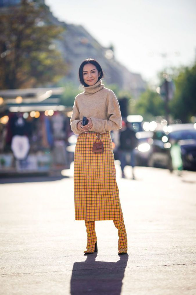 winter-outfit-Turtleneck-with-midi-skirt-3-675x1012 70+ Elegant Winter Outfit Ideas for Business Women