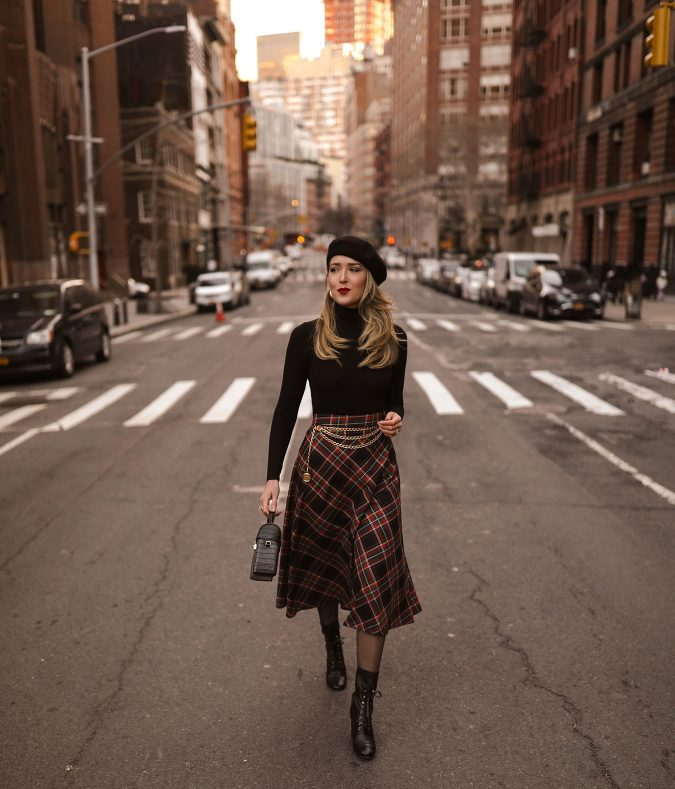 winter-outfit-Turtleneck-with-midi-skirt-5-675x789 70+ Elegant Winter Outfit Ideas for Business Women