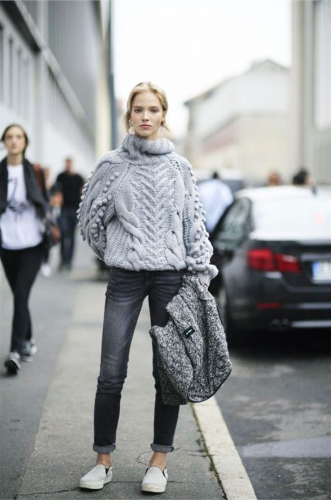 winter-outfit-with-different-textures-2-675x1017 70+ Elegant Winter Outfit Ideas for Business Women