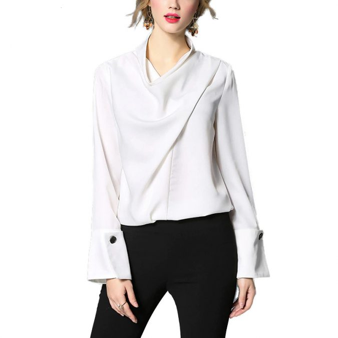 winter-womwn-outfit-with-white-shirt-675x675 70+ Elegant Winter Outfit Ideas for Business Women