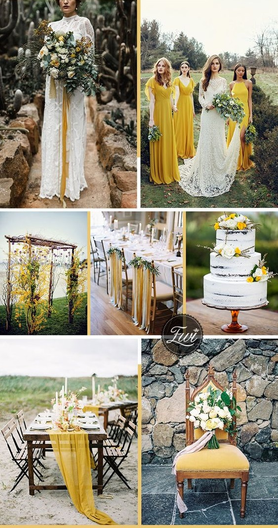 yellow. Trend Forecasting: Top 15 Expected Wedding Color Ideas for 2019