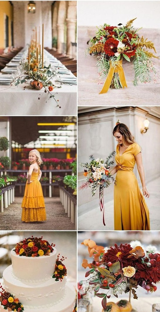 yellow Trend Forecasting: Top 15 Expected Wedding Color Ideas for 2019