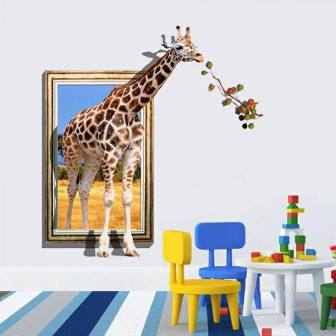 3D-wall-sticker-design-look-675x675 15 Simple Décor Tips to Make Your Kids' Room Look Attractive