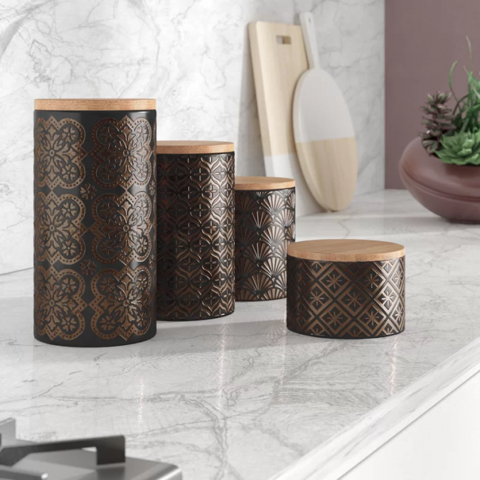 4-Piece-Kitchen-Canister-Set-675x675 Top 18 Creative Kitchen Decoration Tricks No One Told You About