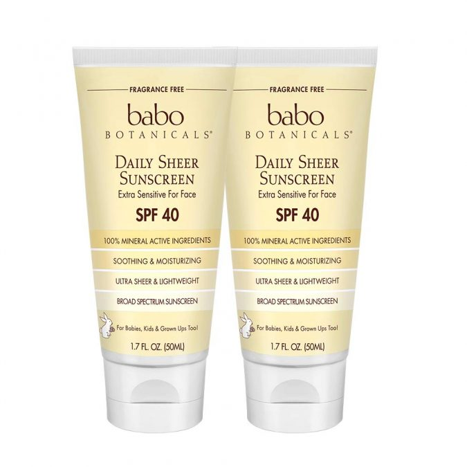 Babo-Botanicals-SPF-40-Daily-Sheer-Facial-Sunscreen-675x675 7 Amazing Skin Care Gifts for Your Loved One Under $100