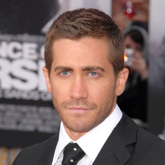 Jake-Gyllenhaal-crew-cut-square-face-675x675 10 Best Men's Haircuts According to Face Shape in 2020