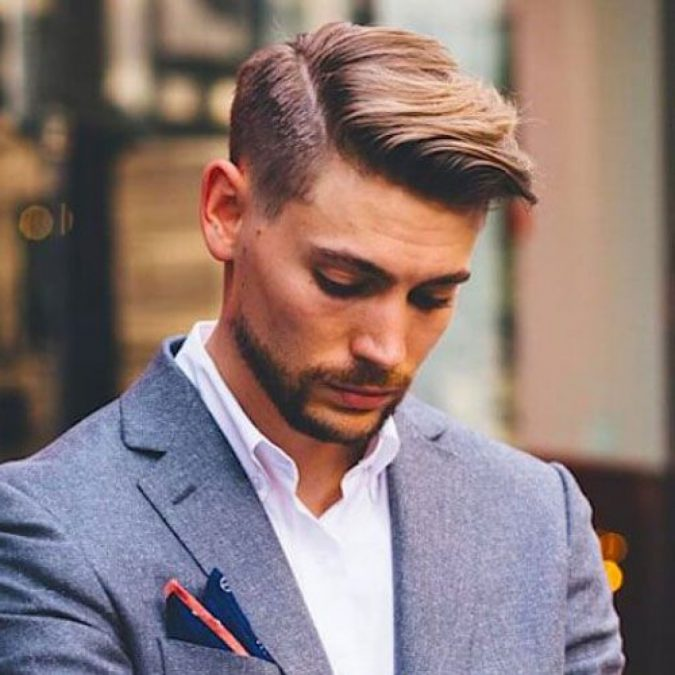 Side-parted-haircut-2-1-675x675 10 Best Men's Haircuts According to Face Shape in 2020