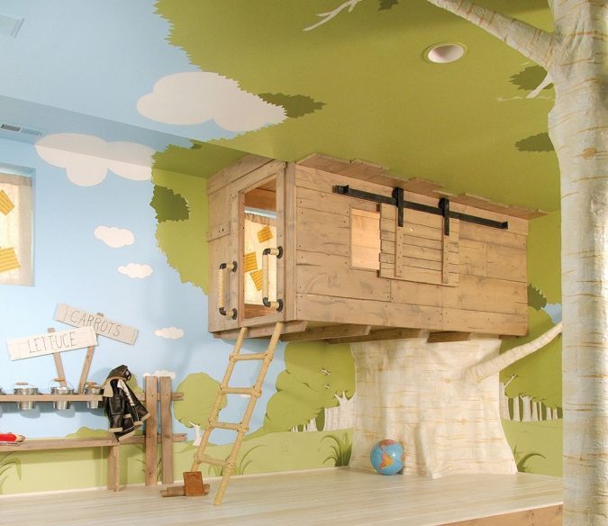 Tree-house-bedroom-design.-675x584 15 Simple Décor Tips to Make Your Kids' Room Look Attractive