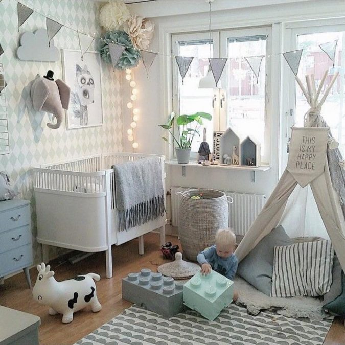 baby-bedroom-design-675x675 15 Simple Décor Tips to Make Your Kids' Room Look Attractive