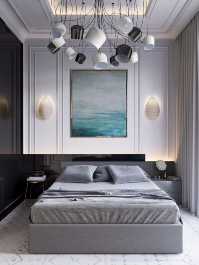 bedroom-Grey-with-a-Glimpse-of-Color-675x900 20 Cheapest Bedroom Ideas to Make Your Space Look Expensive