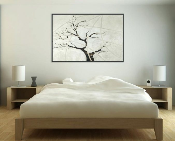 bedroom-decor-artwork-5-675x543 20 Cheapest Bedroom Ideas to Make Your Space Look Expensive