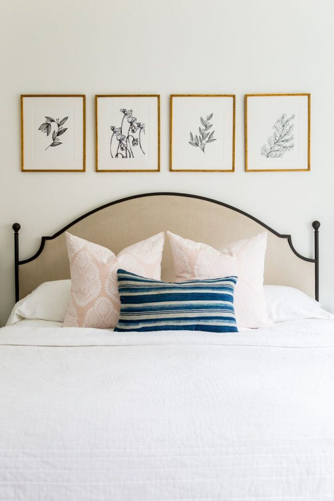 bedroom-decor-artwork-675x1013 20 Cheapest Bedroom Ideas to Make Your Space Look Expensive