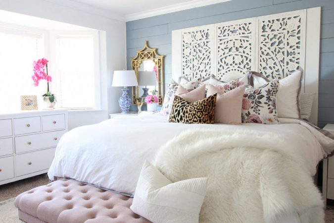bedroom-decor-blush-touch-2-675x450 20 Cheapest Bedroom Ideas to Make Your Space Look Expensive