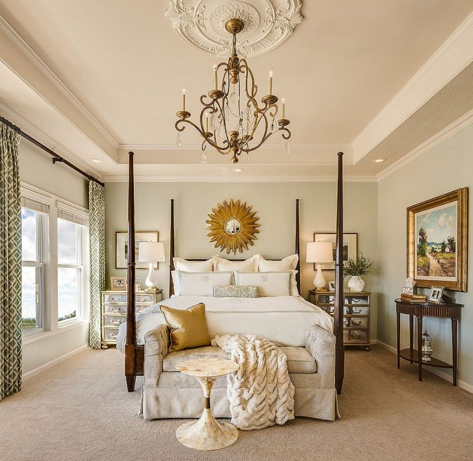 bedroom-decor-chandelier-675x657 20 Cheapest Bedroom Ideas to Make Your Space Look Expensive