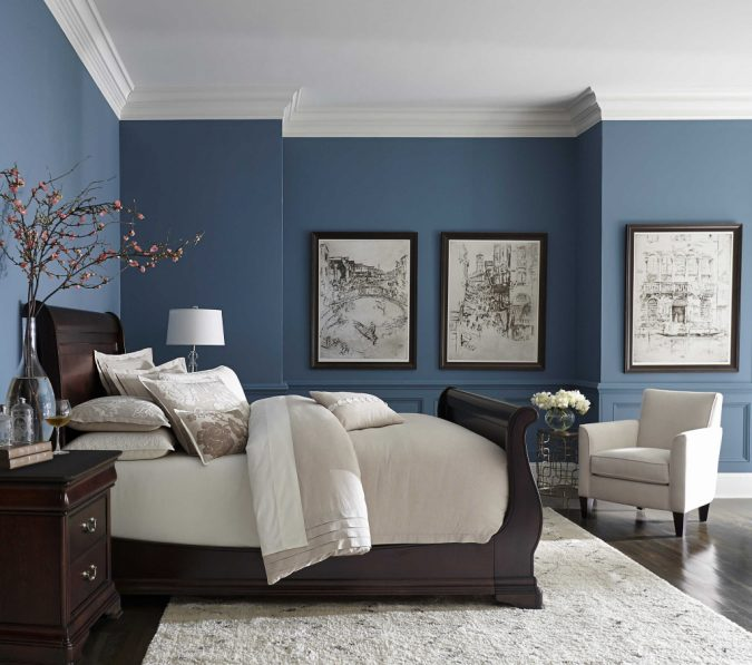 bedroom-decor-decorative-molding-675x597 20 Cheapest Bedroom Ideas to Make Your Space Look Expensive