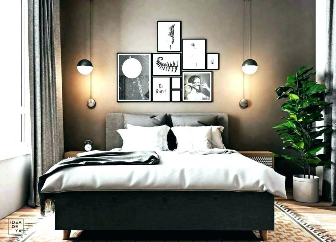 bedroom-decor-hanging-lights-greenary-touch-675x486 20 Cheapest Bedroom Ideas to Make Your Space Look Expensive