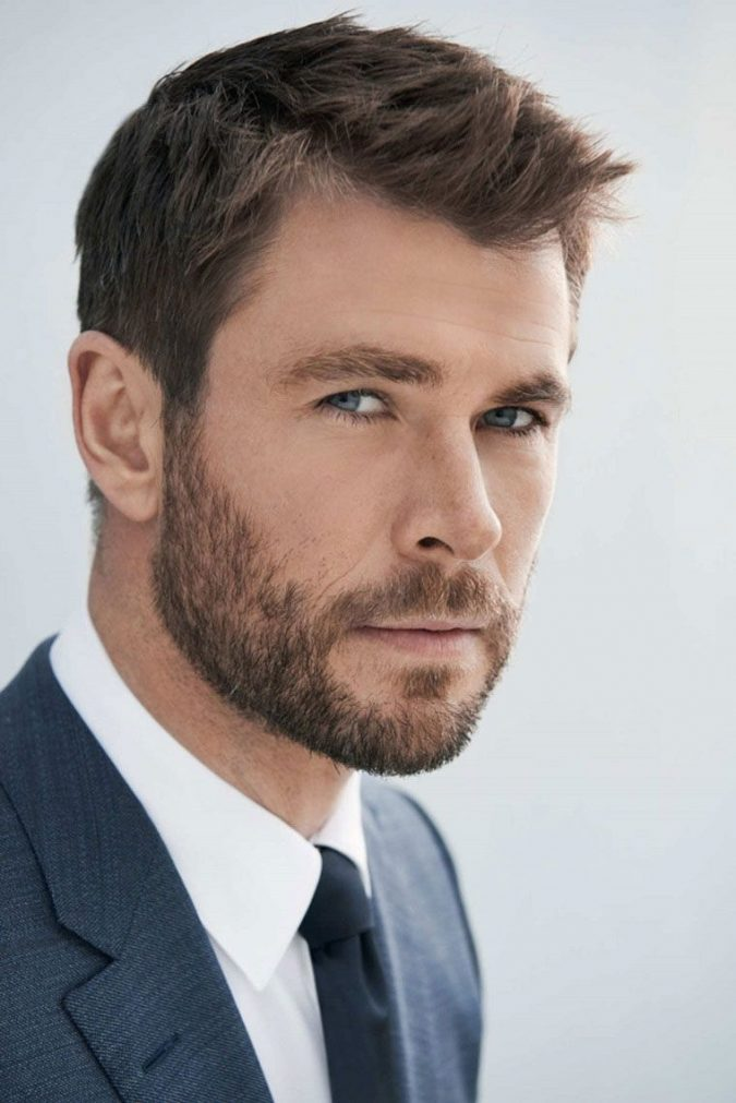 buzz-cut-Ivy-League-Chris-Hemsworth-675x1011 10 Best 2019 Men's Haircuts According to Face Shape