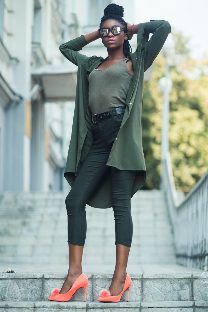 green-monochrome-outfit-675x1013 80+ Elegant Summer Outfit Ideas for Business Women