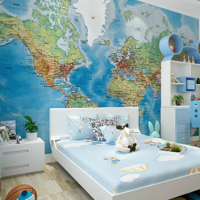kids-room-decor-wallpaper-2-675x675 15 Simple Décor Tips to Make Your Kids' Room Look Attractive