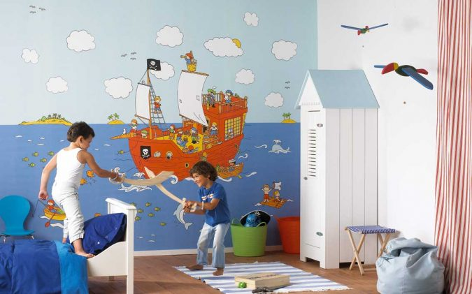 kids-room-decor-wallpaper-675x421 15 Simple Décor Tips to Make Your Kids' Room Look Attractive