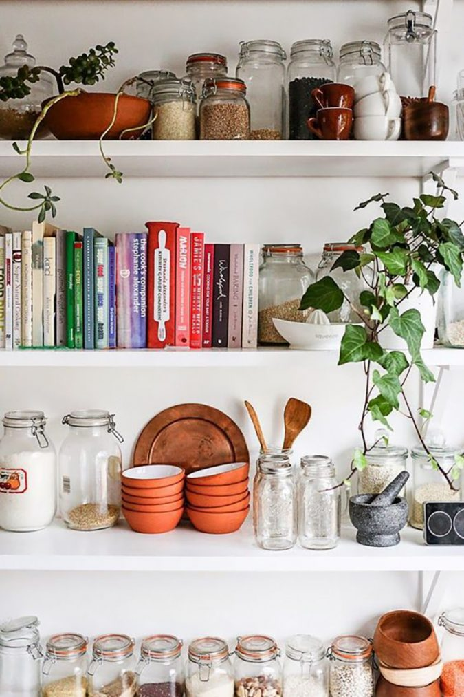 kitchen-decor-cookbooks-shelf-675x1013 Top 18 Creative Kitchen Decoration Tricks No One Told You About