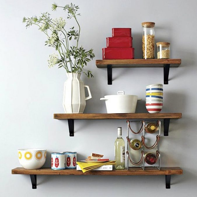 kitchen-decorative-open-shelves-675x674 Top 18 Creative Kitchen Decoration Tricks No One Told You About