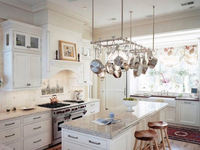 kitchen-hanging-pot-rack-675x506 Top 18 Creative Kitchen Decoration Tricks No One Told You About