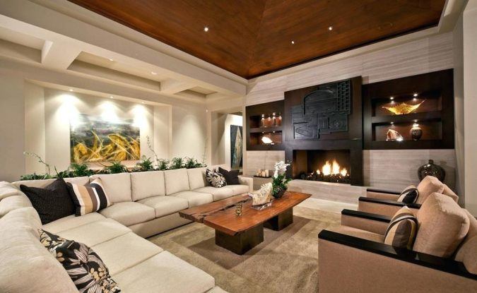 living-room-accent-wooden-ceiling-675x415 Best 14 Tips to Follow When Planning a Small Living Room
