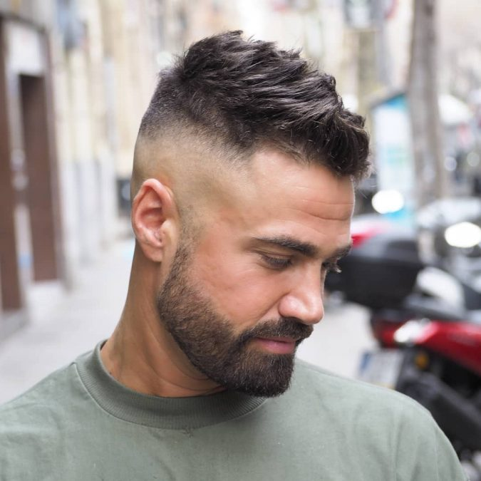 mens-side-fade-haircut-675x675 10 Best 2019 Men's Haircuts According to Face Shape