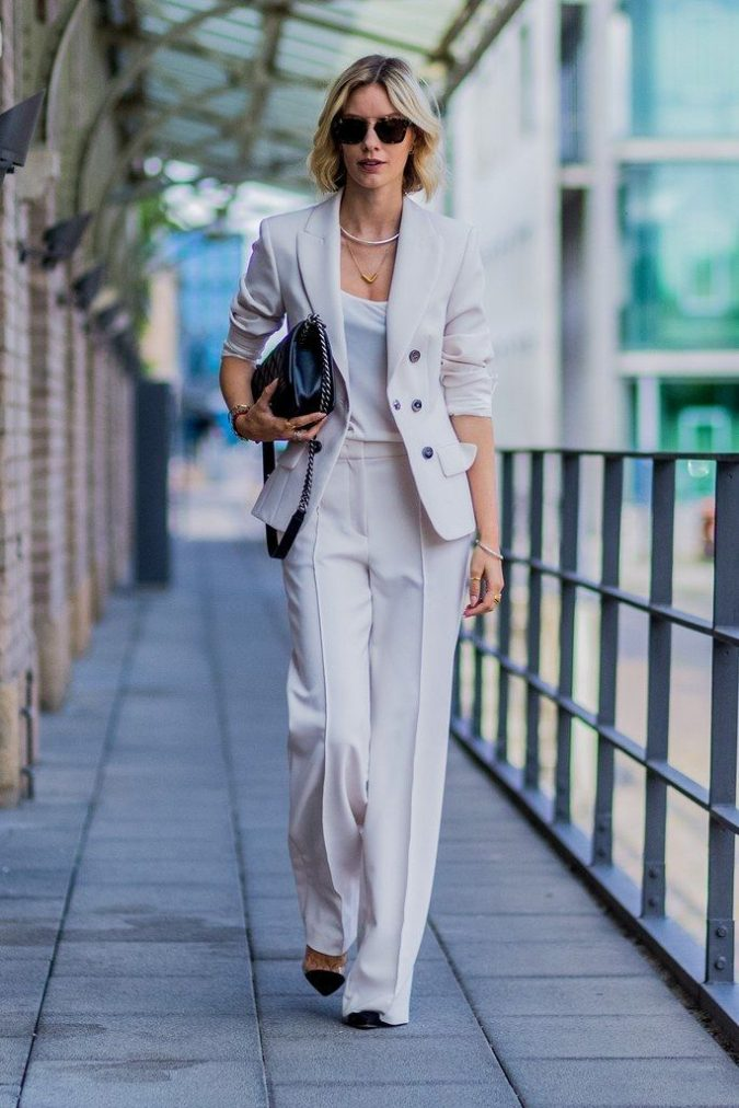 monochrome-work-outfit-summer-suit-675x1012 80+ Elegant Summer Outfit Ideas for Business Women in 2019