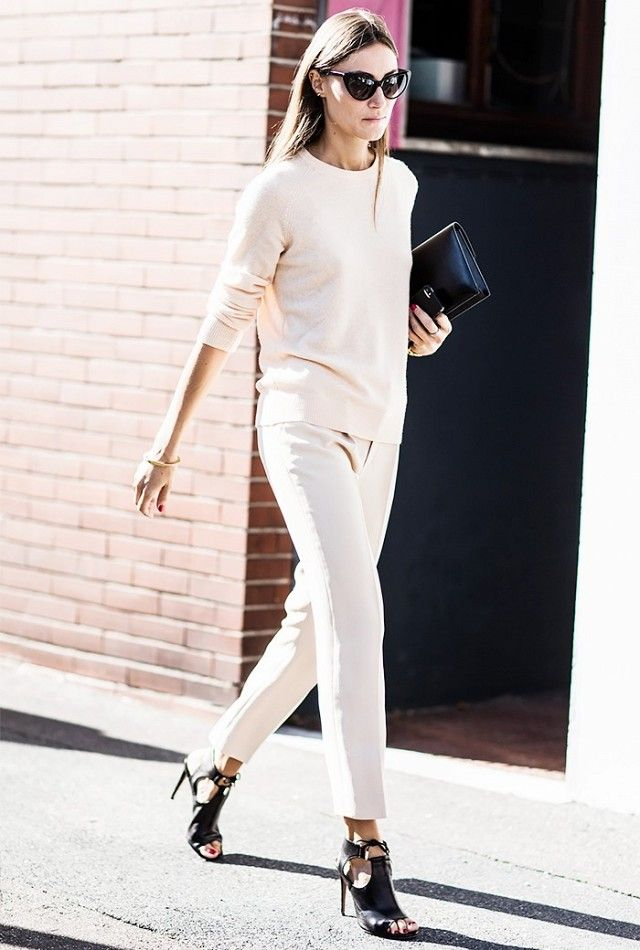 monochrome-work-outfit 80+ Elegant Summer Outfit Ideas for Business Women in 2019