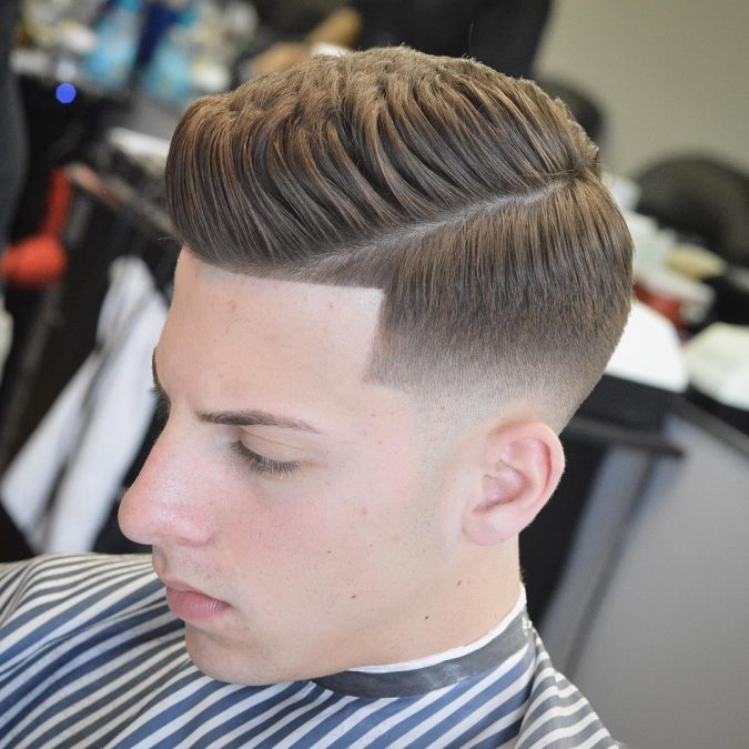 side-parted-skin-fade-haircut-675x675 10 Best 2019 Men's Haircuts According to Face Shape