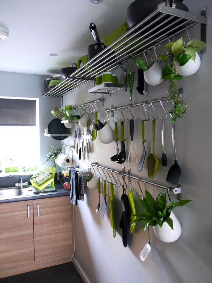 stainless-steel-hanging-kitchen-pots-and-pans-rack-storage-675x900 Top 18 Creative Kitchen Decoration Tricks No One Told You About