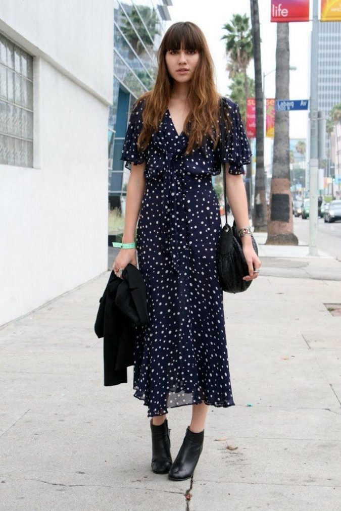 summer-work-outfit-boho-dress-with-blazer-1-675x1012 Best 20 Balenciaga Shoes Outfit Ideas for Women in 2021