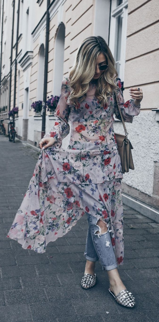summer-work-outfit-floral-675x1363 80+ Elegant Summer Outfit Ideas for Business Women in 2019