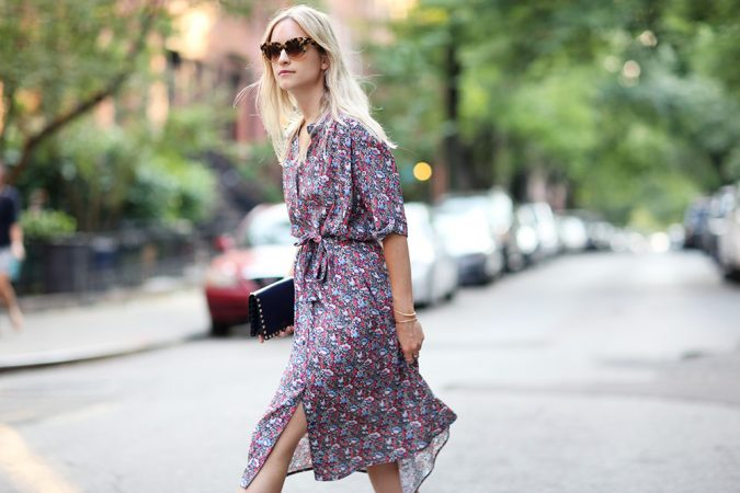 summer-work-outfit-floral-dress-2-675x450 80+ Elegant Summer Outfit Ideas for Business Women in 2019