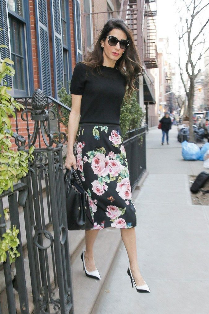 summer-work-outfit-floral-skirt-675x1013 80+ Elegant Summer Outfit Ideas for Business Women