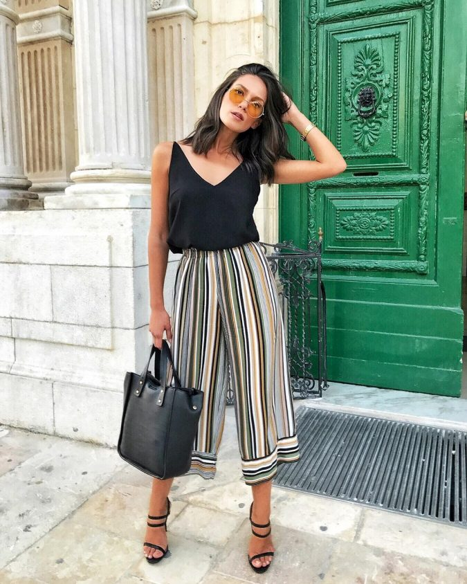 summer-work-outfit-stripped-pants-675x844 80+ Elegant Summer Outfit Ideas for Business Women in 2019
