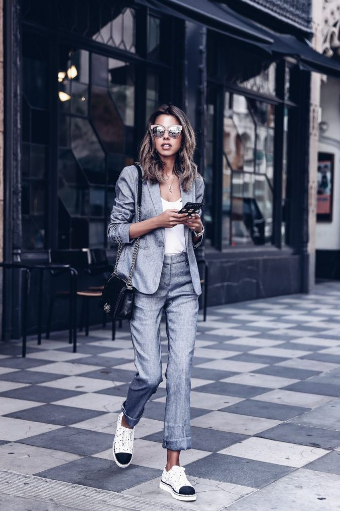 summer-work-outfit-suit-675x1013 80+ Elegant Summer Outfit Ideas for Business Women in 2019