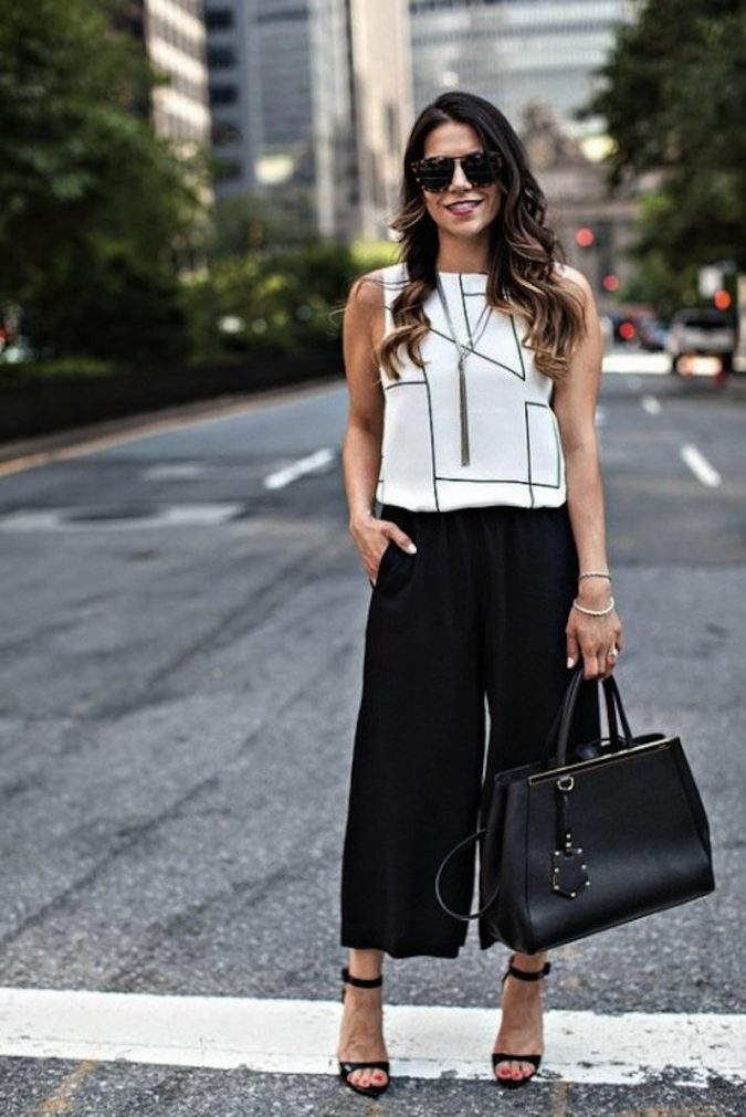 summer-work-outfit-white-shirt-and-black-pants-1-675x1011 80+ Elegant Summer Outfit Ideas for Business Women