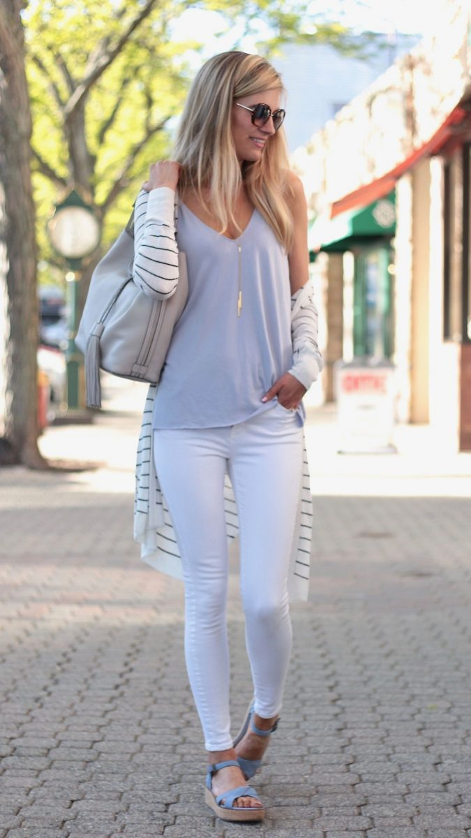summer-work-outfit-with-cardigan-2-675x1200 80+ Elegant Summer Outfit Ideas for Business Women